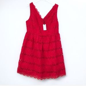 NWT ModCloth Liza Luxe Red Lace Dress 1X